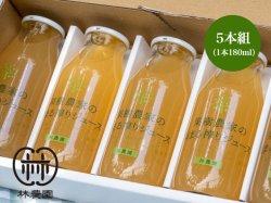 画像1: 果樹農家の梨まる搾りジュースギフト  180ml5本組 夏ギフト・お中元・のし対応